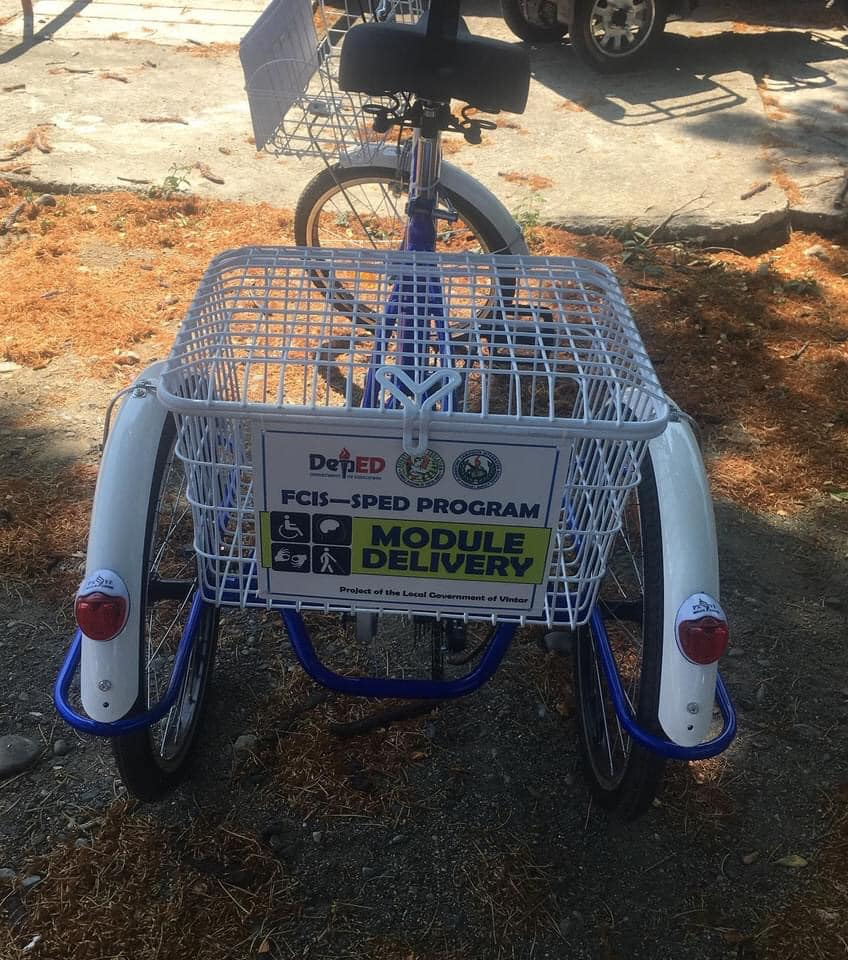 Ilocos Norte town uses TriBike to deliver modules to SPED learners