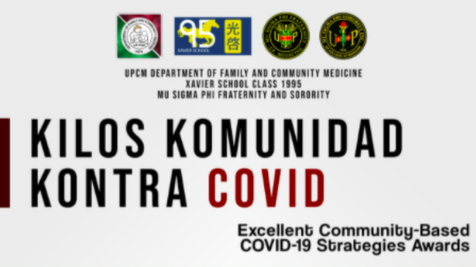 Kilos Komunidad Kontra COVID: Excellent Community-Based COVID-19 Strategies Awards