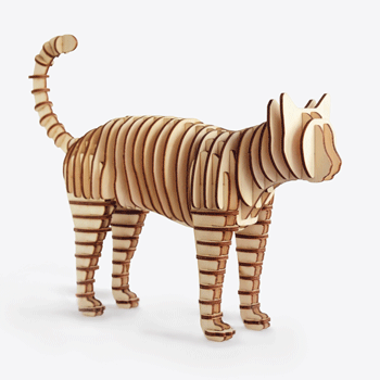 Animal toy from interlocking slices