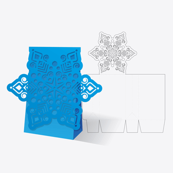 Greeting card with papercraft tabs