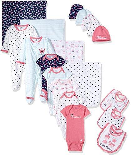 """Подарочный набор """"Gerber"""" для новорожденной девочки, 19 предметов, 100% хлопок"""