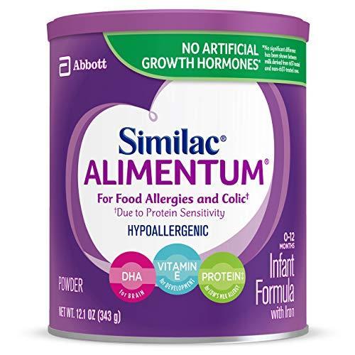 """Сухая смесь для детского питания """"Similac Alimentum"""", гиппоаллергенная, 12,1 oz (343 г), 6 банок"""