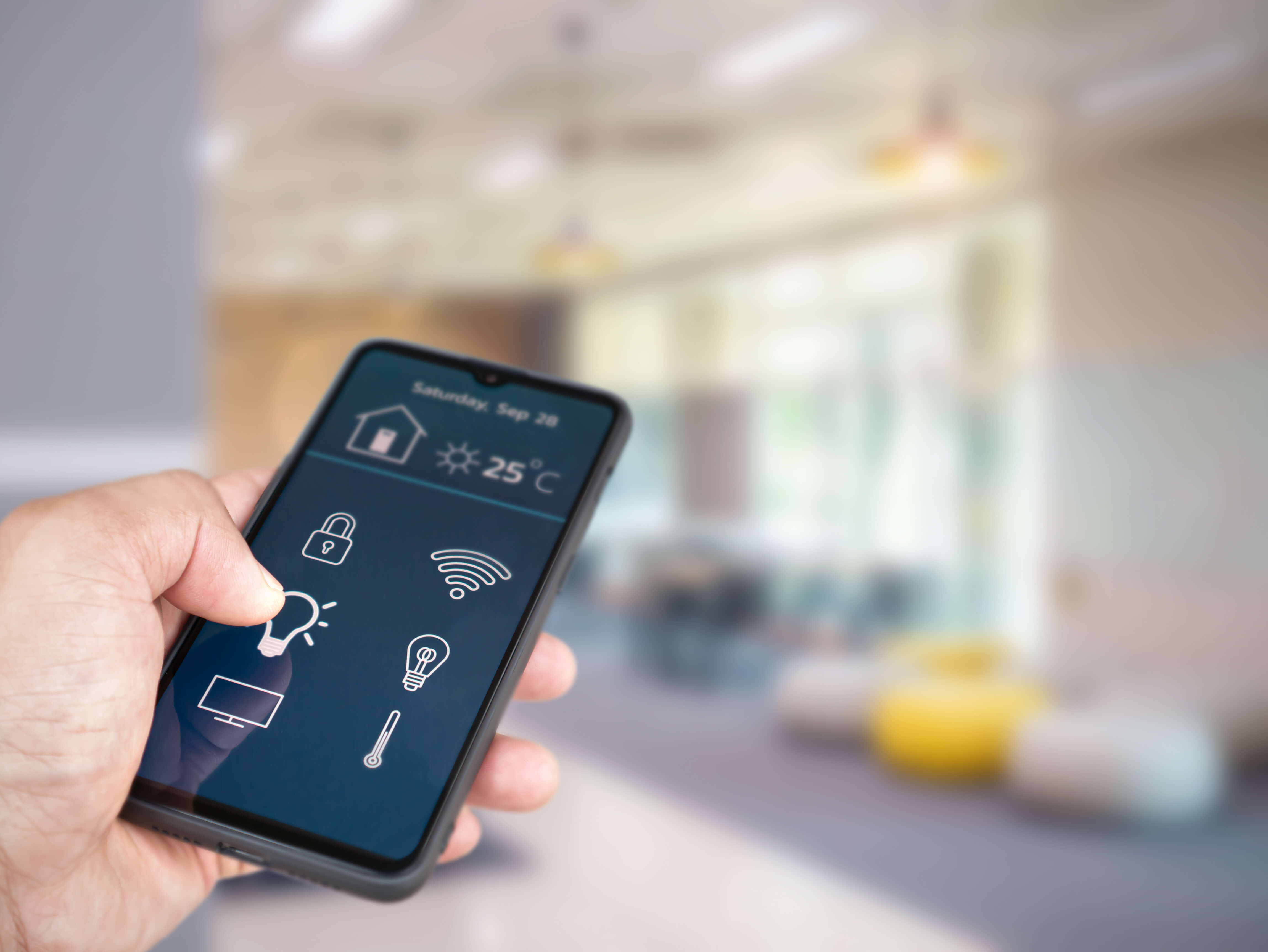 Smart phone app controlling connected home