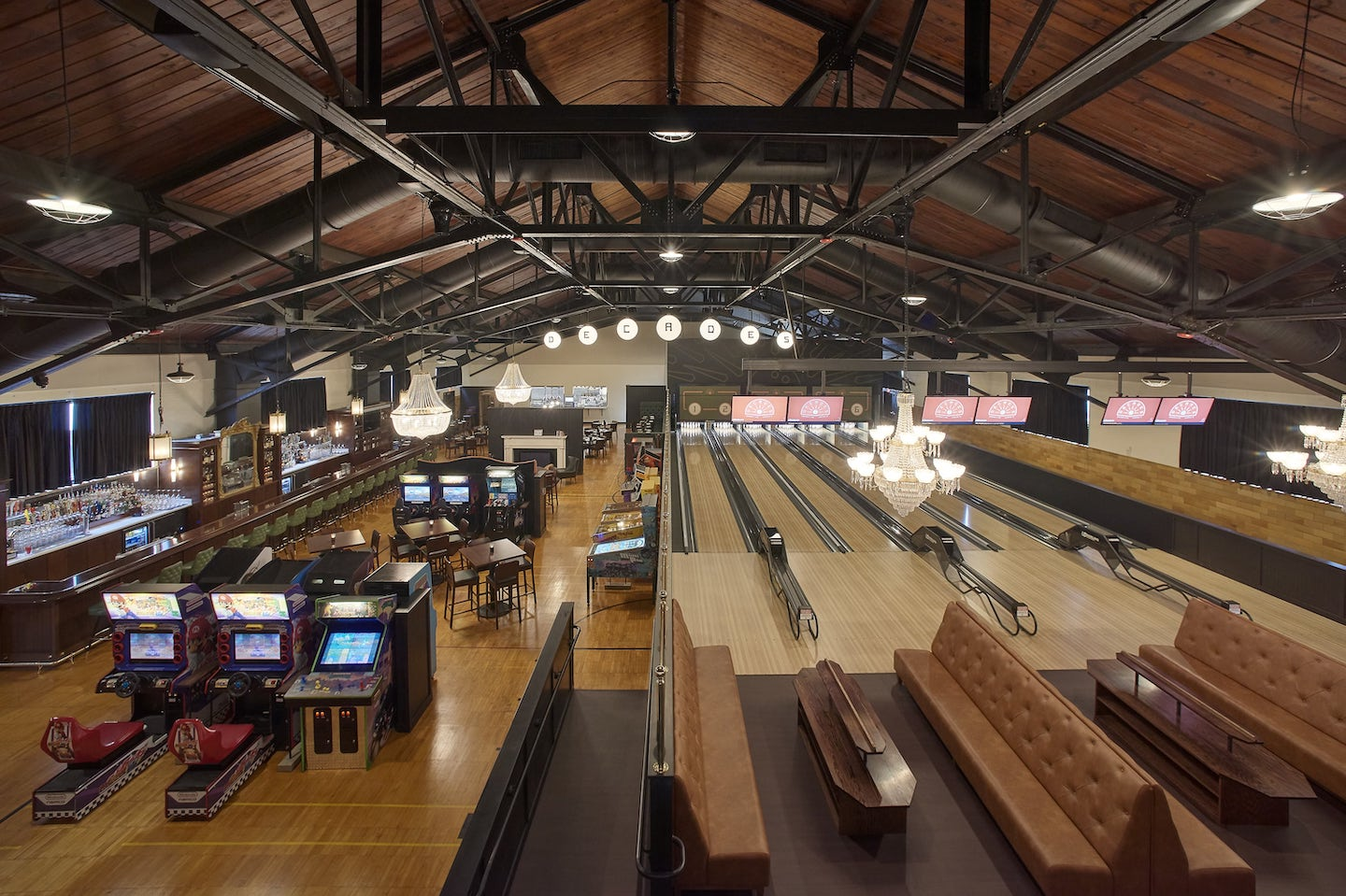 Decades bowling alley and restaurant
