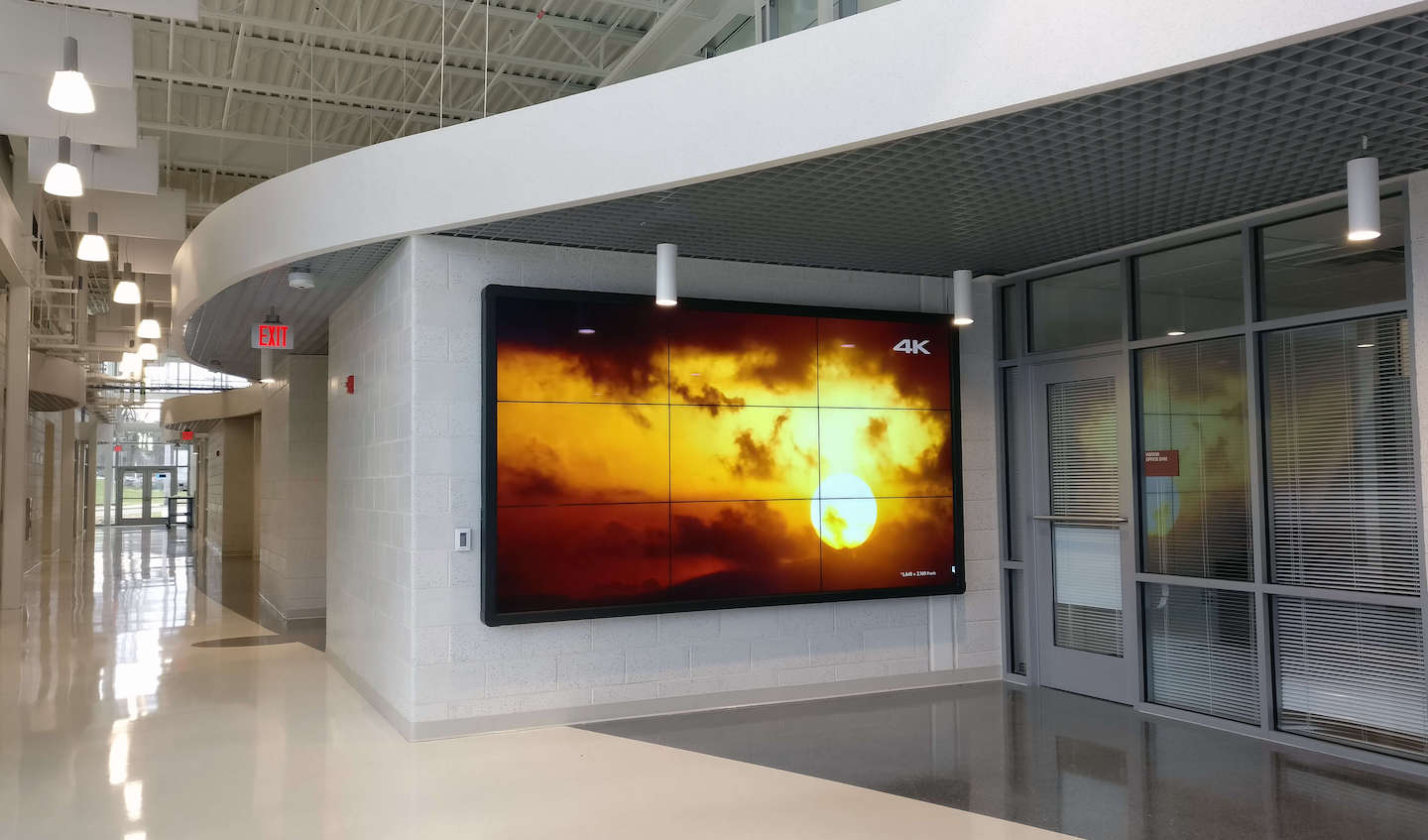 Large screen made of multiple TVs
