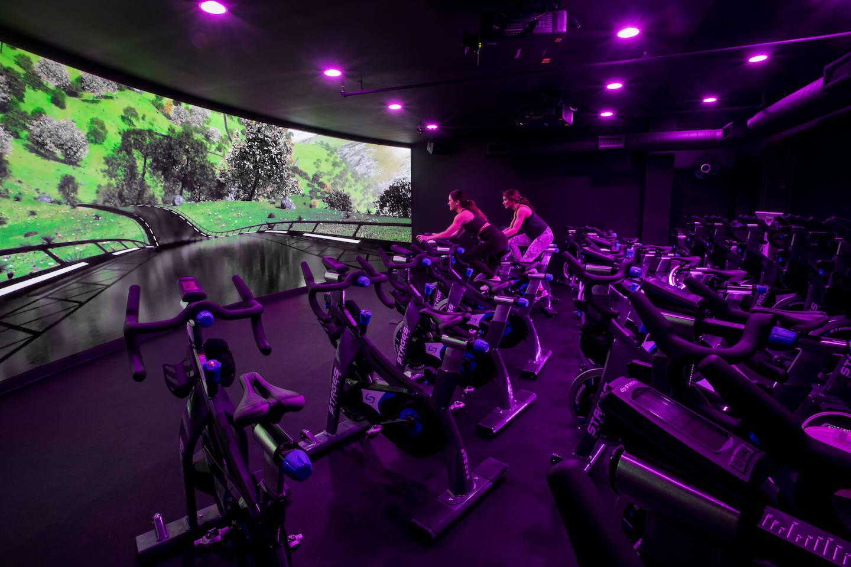Fitness studio with bikes