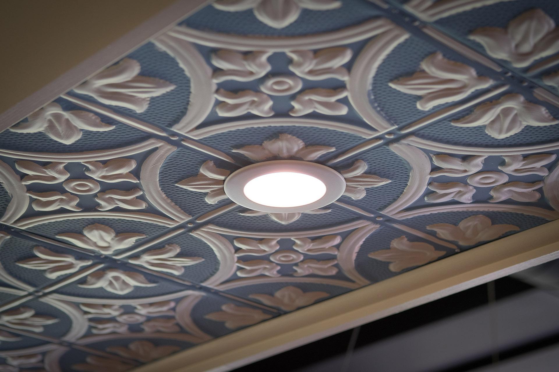 inset ceiling light
