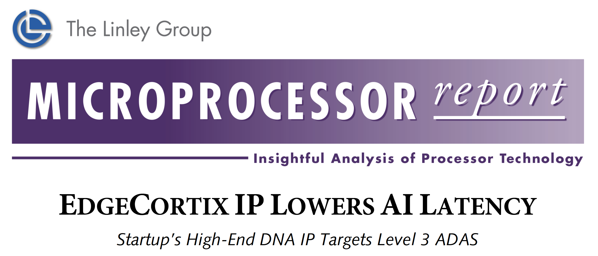 The Linley Group Microprocessor Report on EdgeCortix