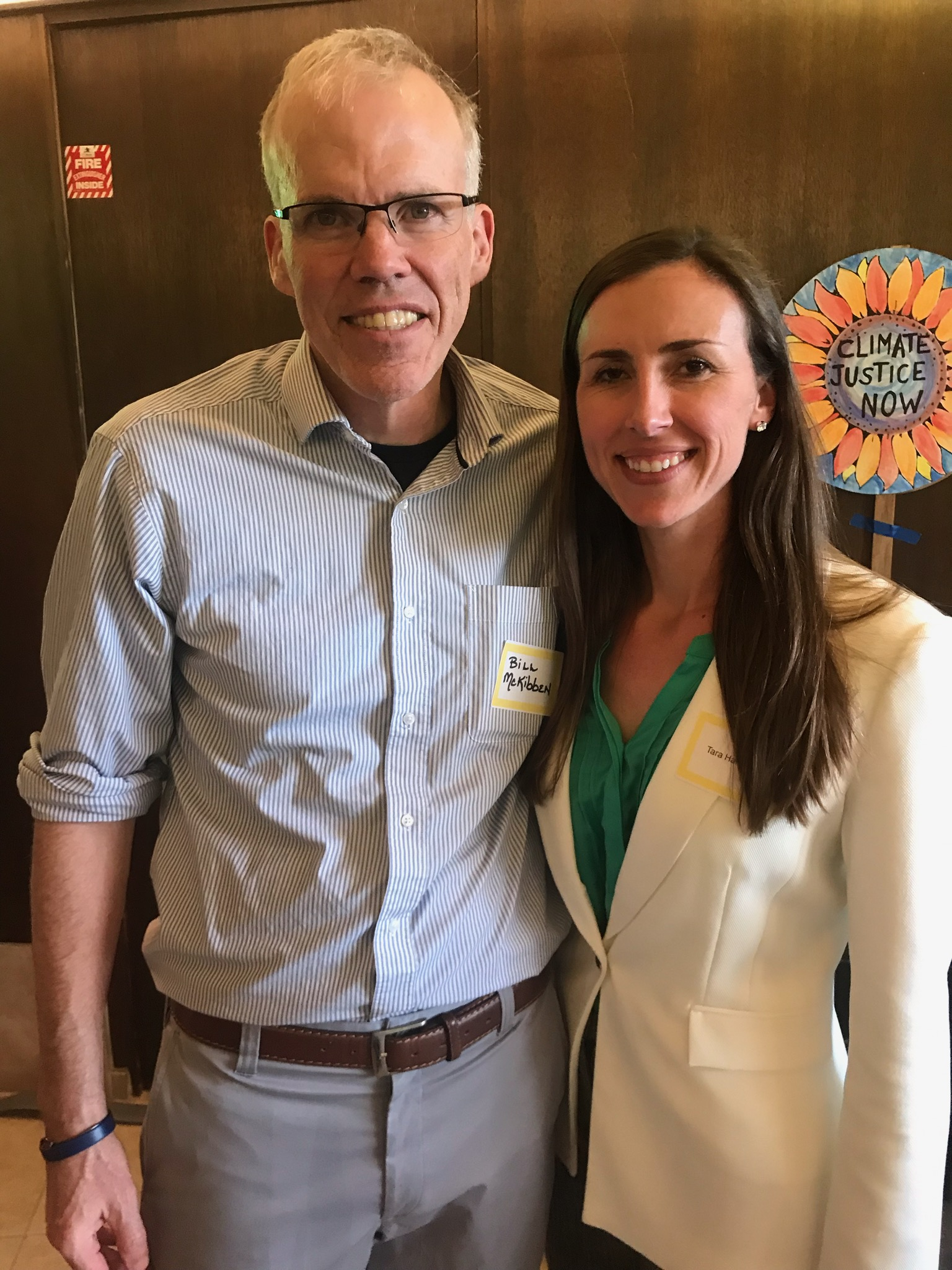 Tara Hammond with Bill McKibben, founder of 350.org and world renowned climate advocate.