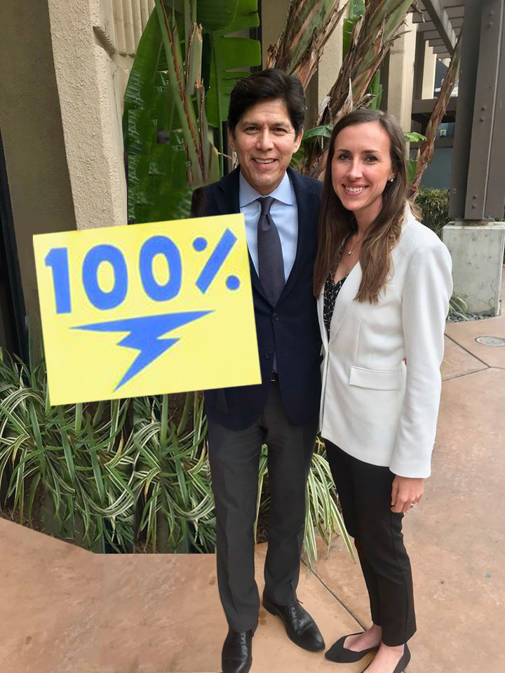 Former Senator, Kevin de León, authored Senate Bill 100, which moves California to 100% clean energy by 2045.