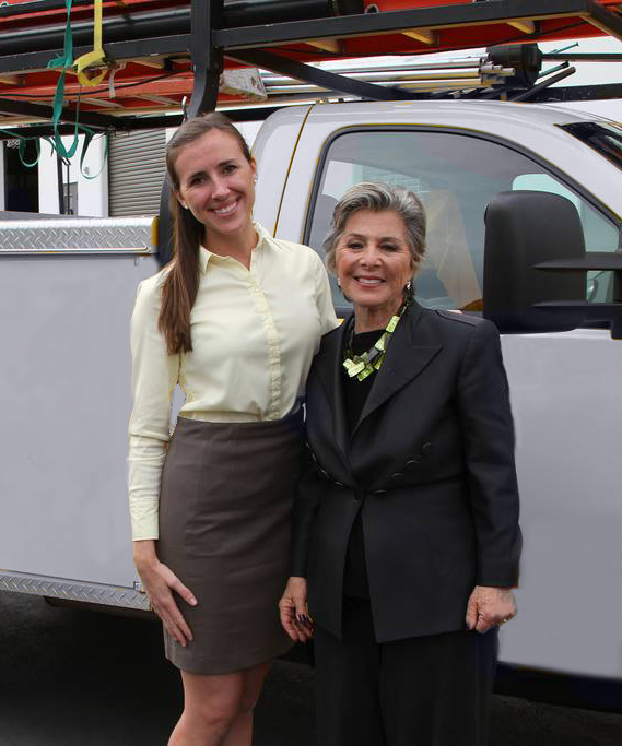 Tara Hammond with Senior Barbara Boxer at an event in San Diego.
