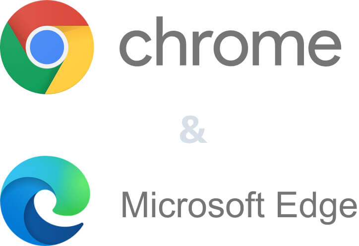 Chrome and Edge logo