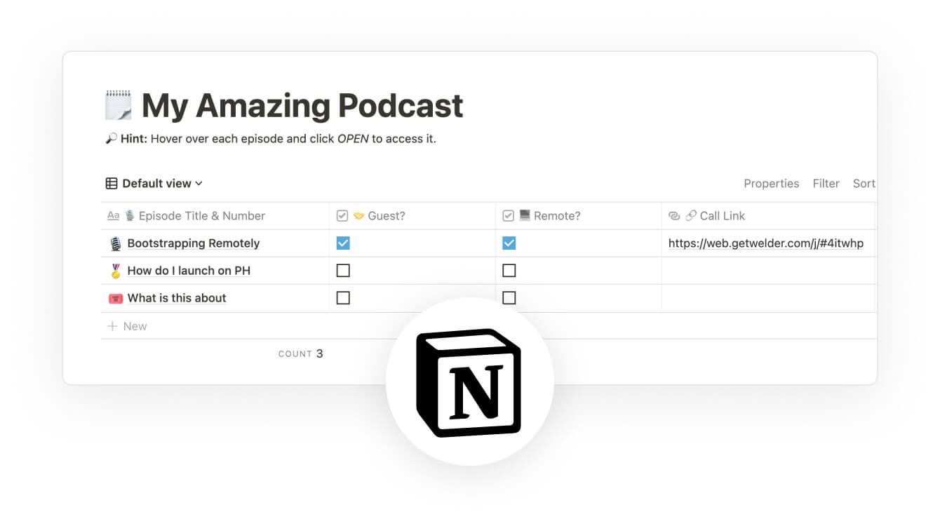 Podcast organizer