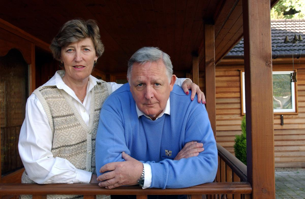 Ian Norris with his wife at their home in Buckinghamshire, U.K. 2005.