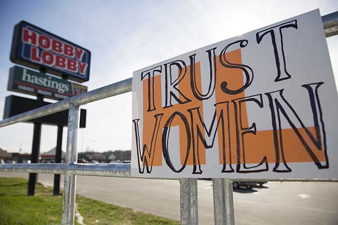 Hobby Lobby decision by Supreme Court, contraception and Obamacare, women's rights