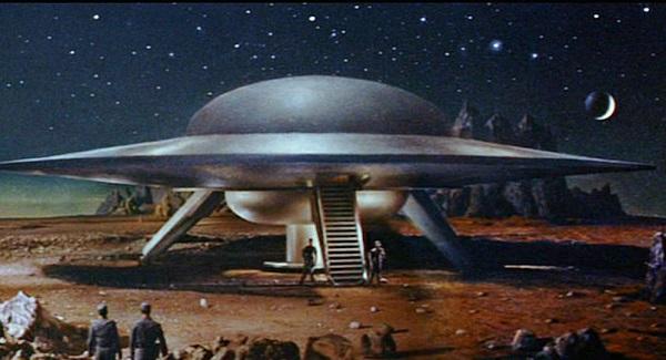 Forbidden Planet saucer Small
