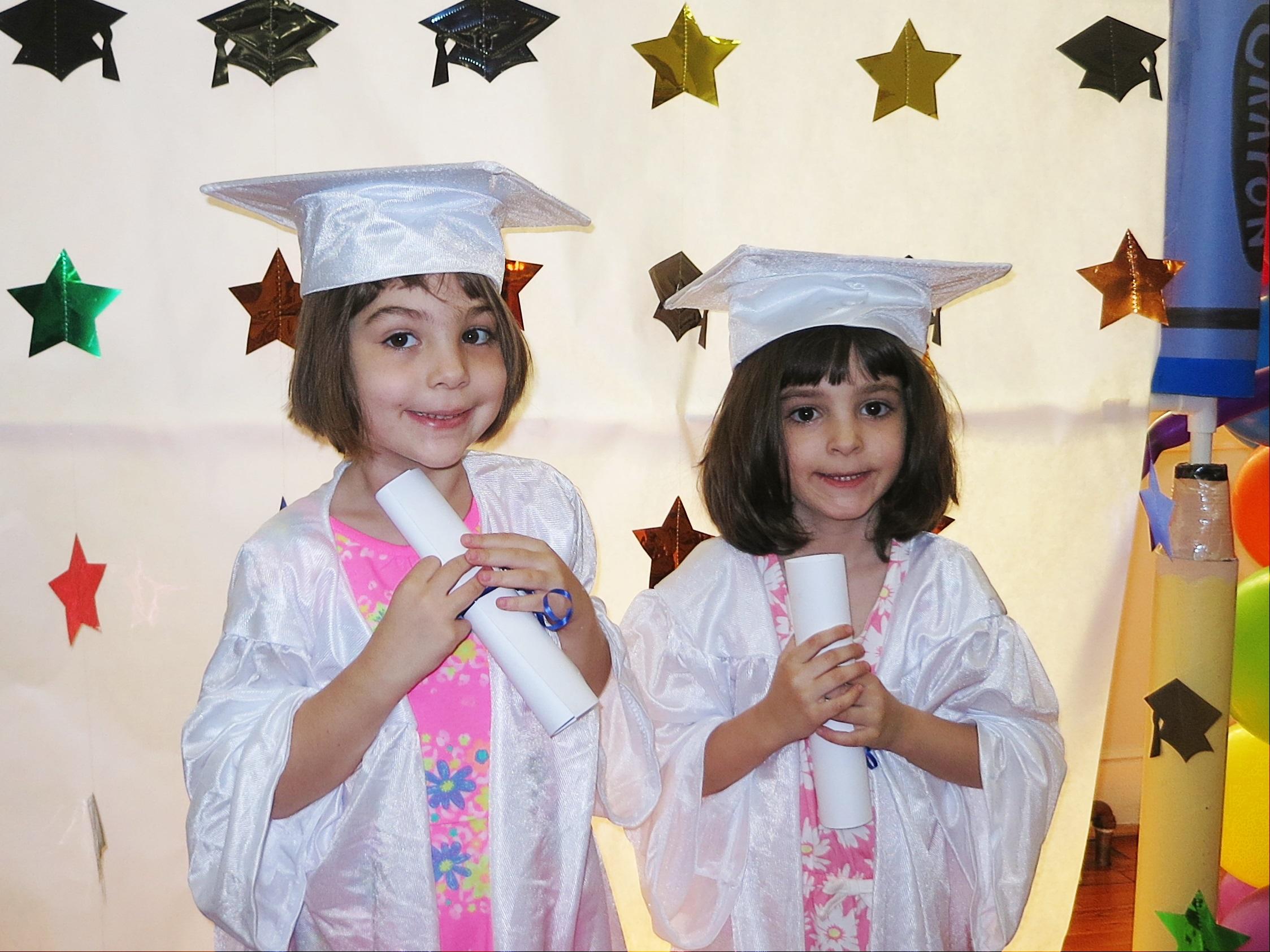 Twins graduation gowns