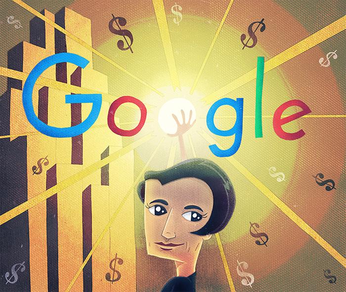 ayn rand google doodle