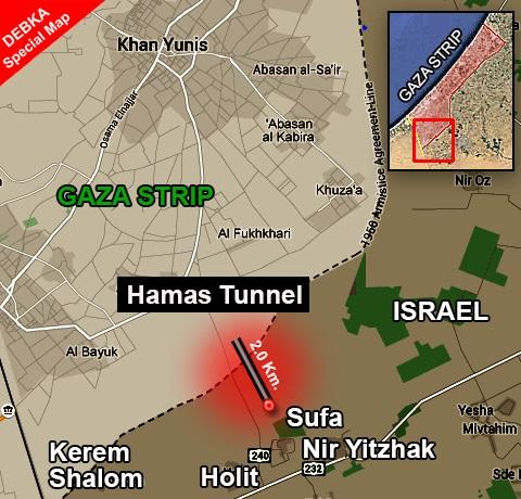 Hamas tunnel map