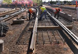Light rail construction in Arizona: this is what motorists are forced to pay for.