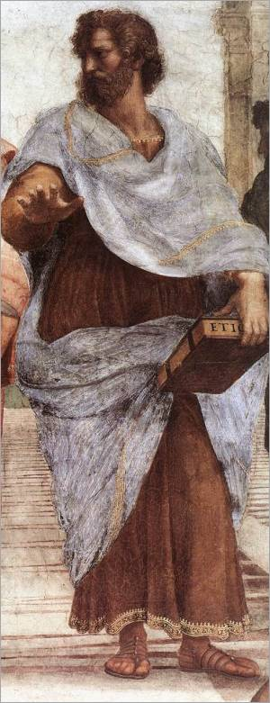 """Aristotle, from """"The School of Athens"""" by Raphael"""