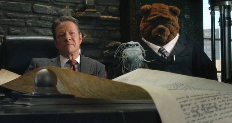 """Chris Cooper as Tex Richman in """"The Muppets."""""""