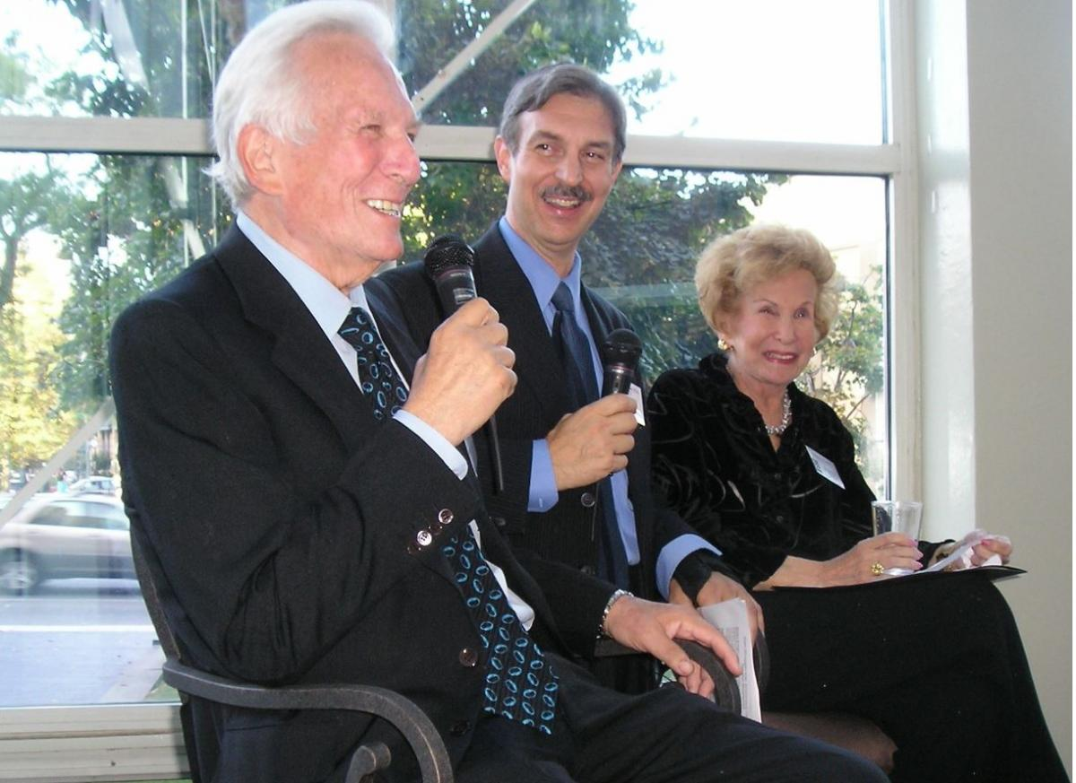 The author with Nathaniel Branden and Barbara Branden, 2007.