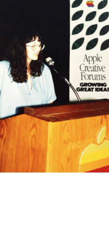 I've been an Apple advocate since first using an Apple II in my late 20s—a computer that literally changed my life and career. Here I am circa 1985 speaking on behalf of Apple about using its computers in my animation work for Star Trek V.