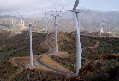 Los Angeles' 120-megawatt Pine Tree Wind Project.