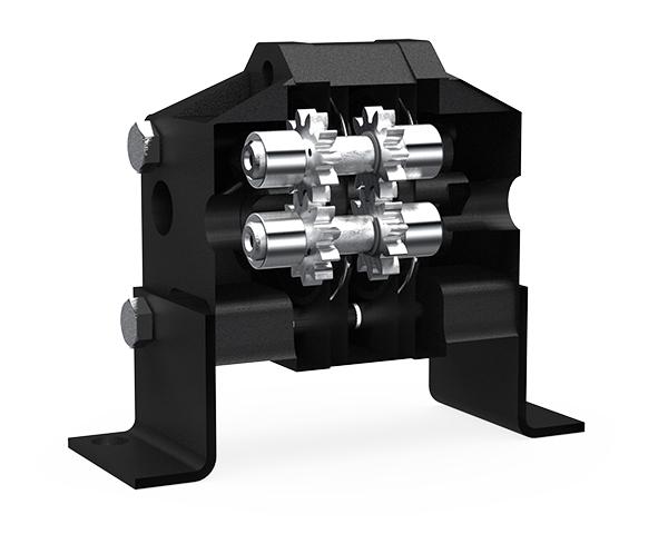 MaxJax two-post lift flow divider