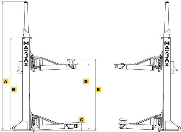 MaxJax M6K Floor Diagram Front
