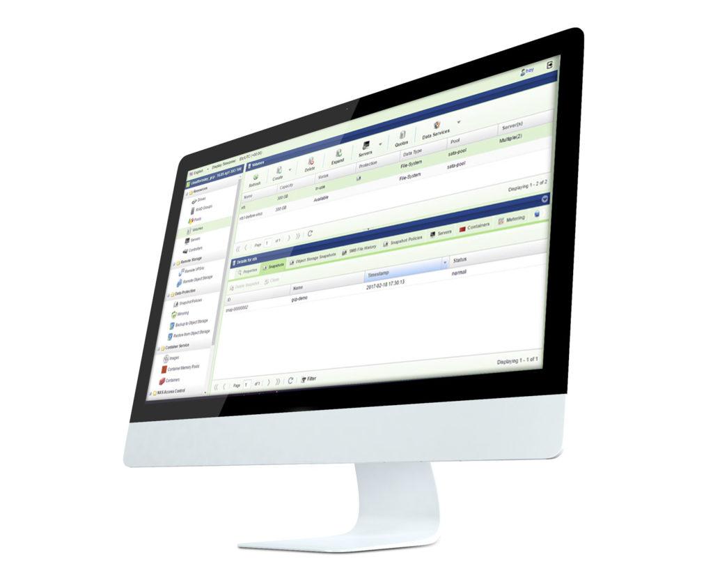 storage management dashboard