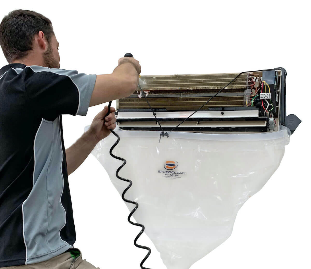 cleaning an air con