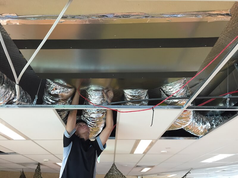 slim ducted install