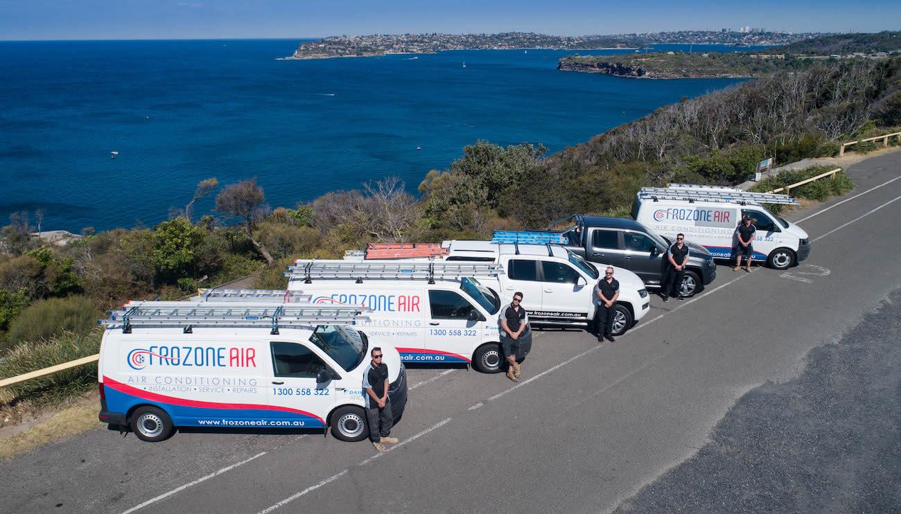 team with vans