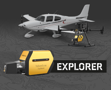 L'Explorer de YellowScan, une solution LiDAR longue portée et multi-plateforme