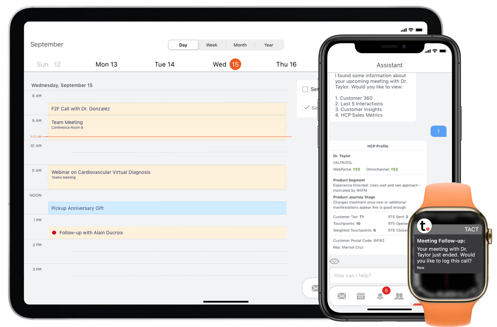 Tact integrates to personal productivity tools