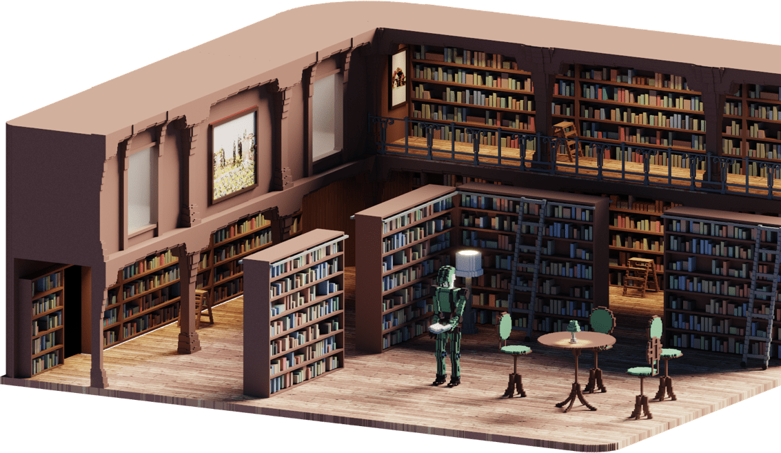 Haekka library illustration