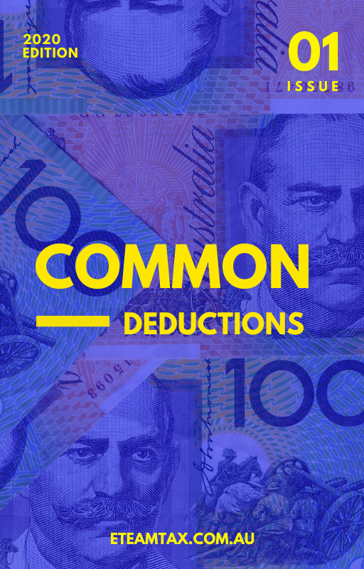 Common Tax Deductions 2020 Checklist by eTeam Tax Accountants