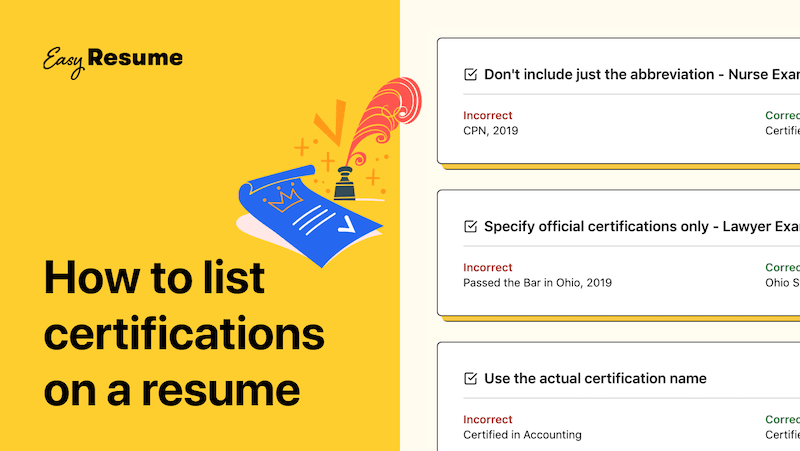 How to list certifications on a resume in 2021