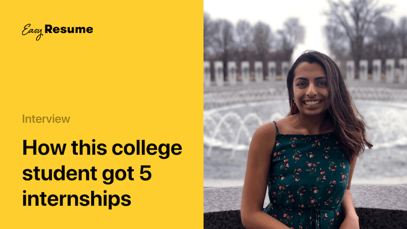 See How This College Student Landed 5 Internships