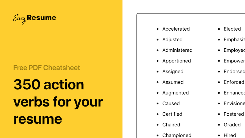 350+ Action Verbs to Make Your Resume More Effective in 2021