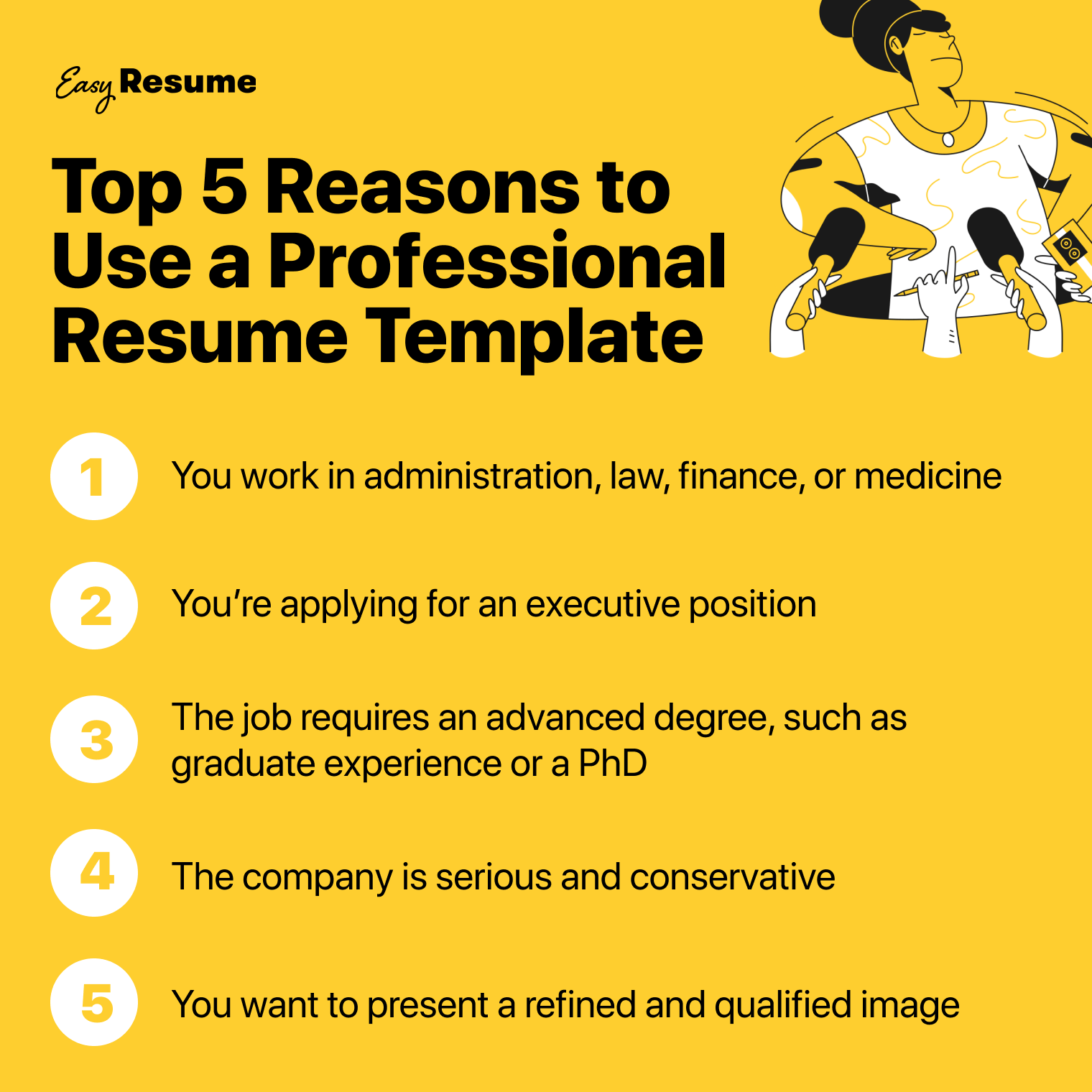 Top 5 Reasons to Use a Professional Resume Template