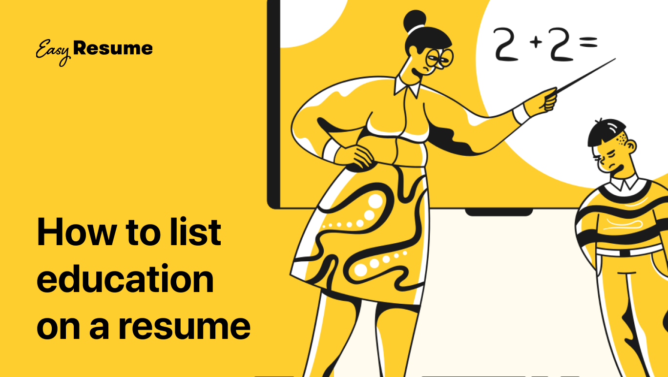 How to list education on. aresume