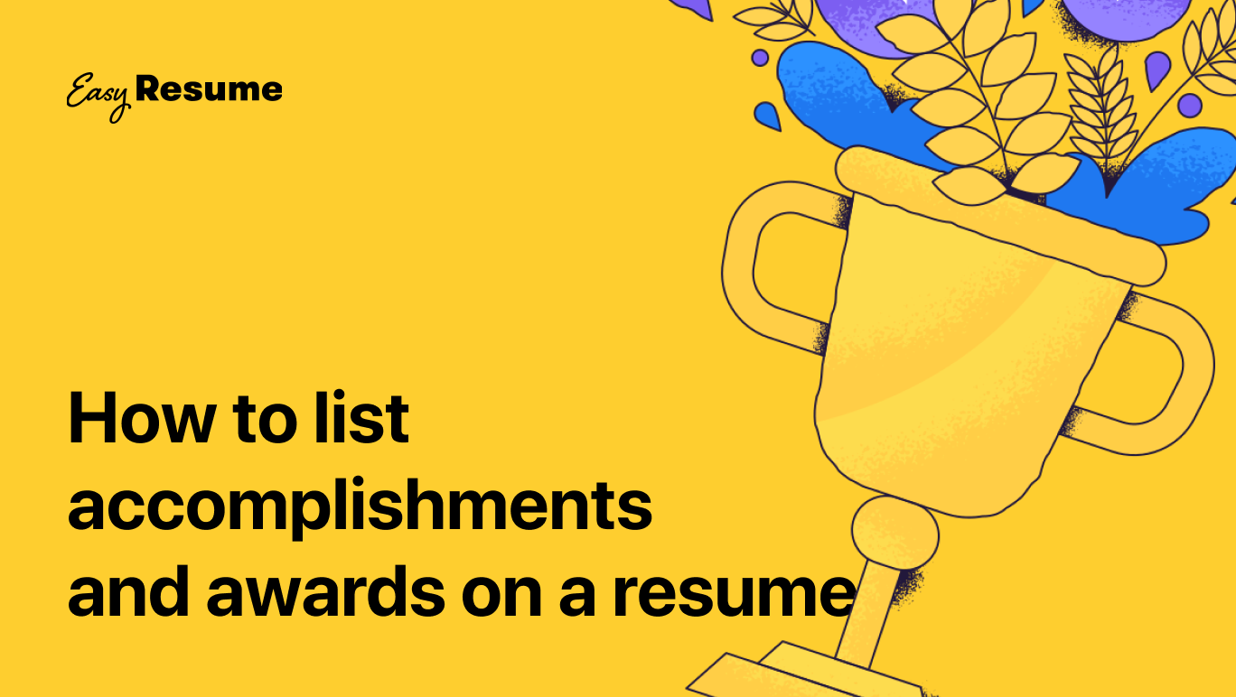Cover photo of how to list accomplishments and awards on a resume