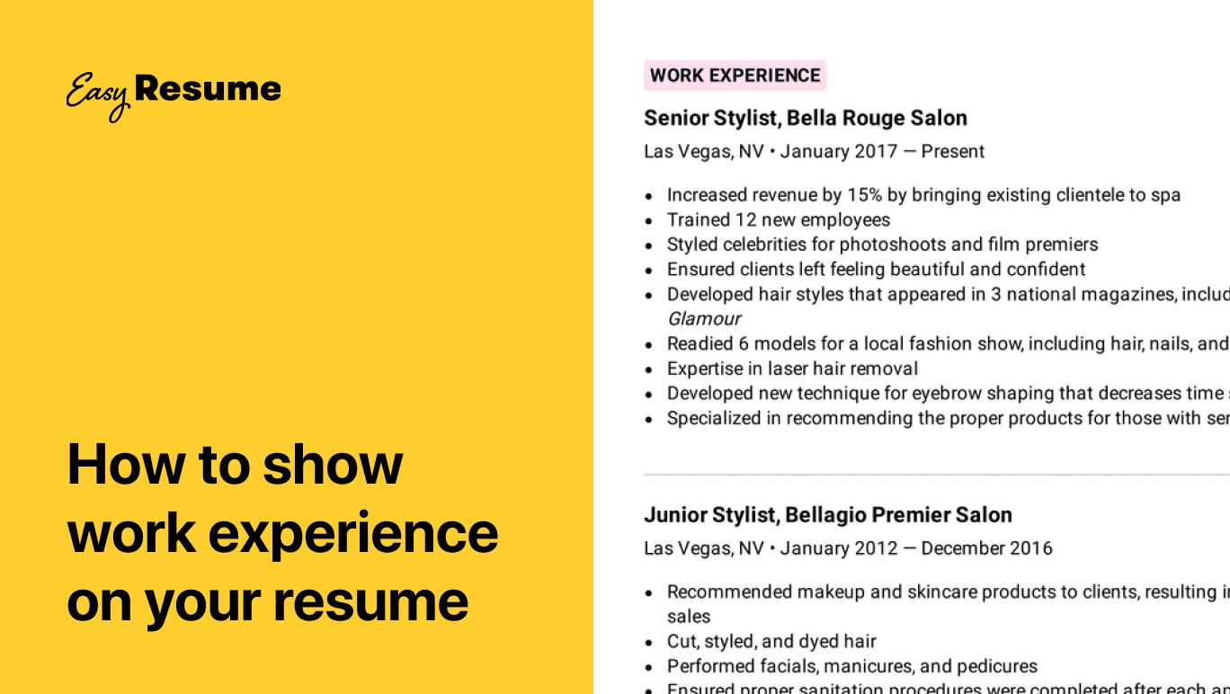Work experience on your resume