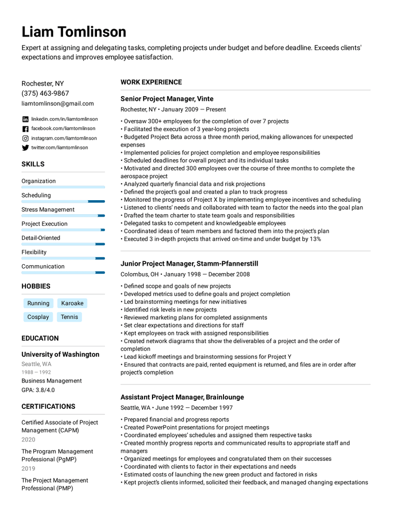 Combination Resume Templates