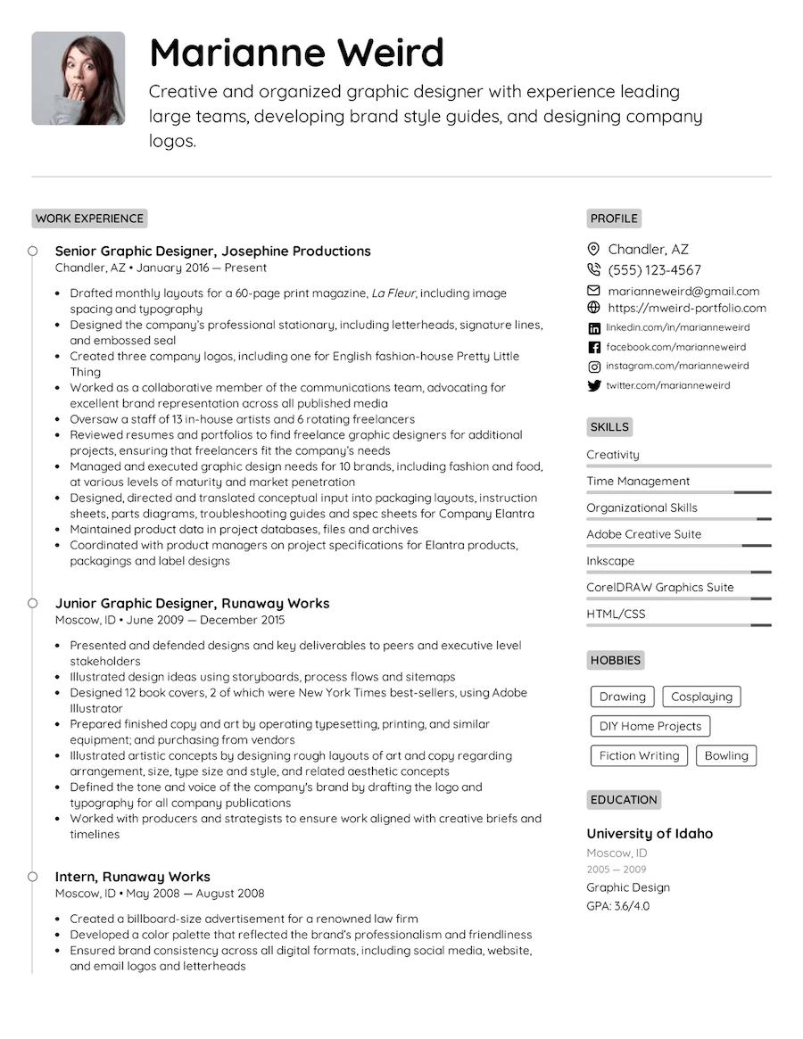 PDF Resume Templates