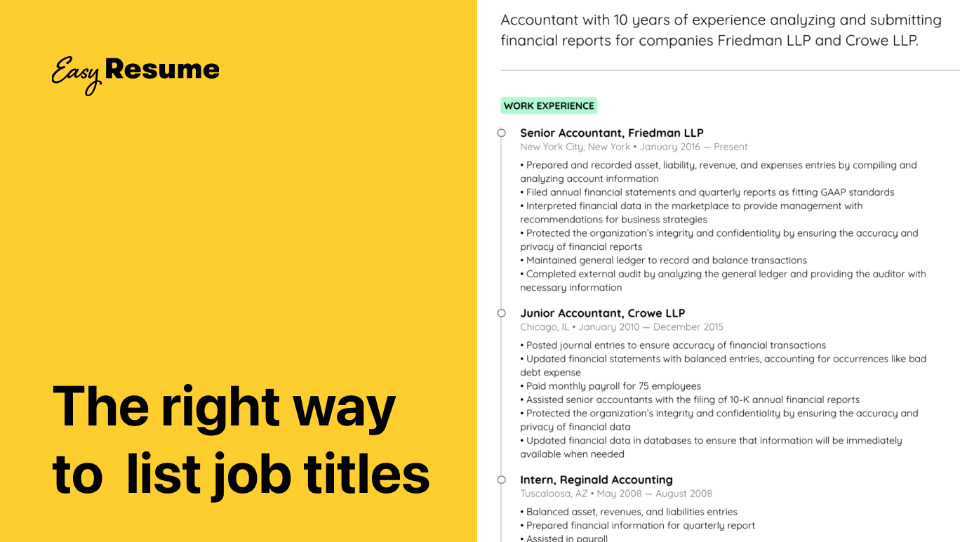 The Right Way to List Job Titles on Your Resume in 2021