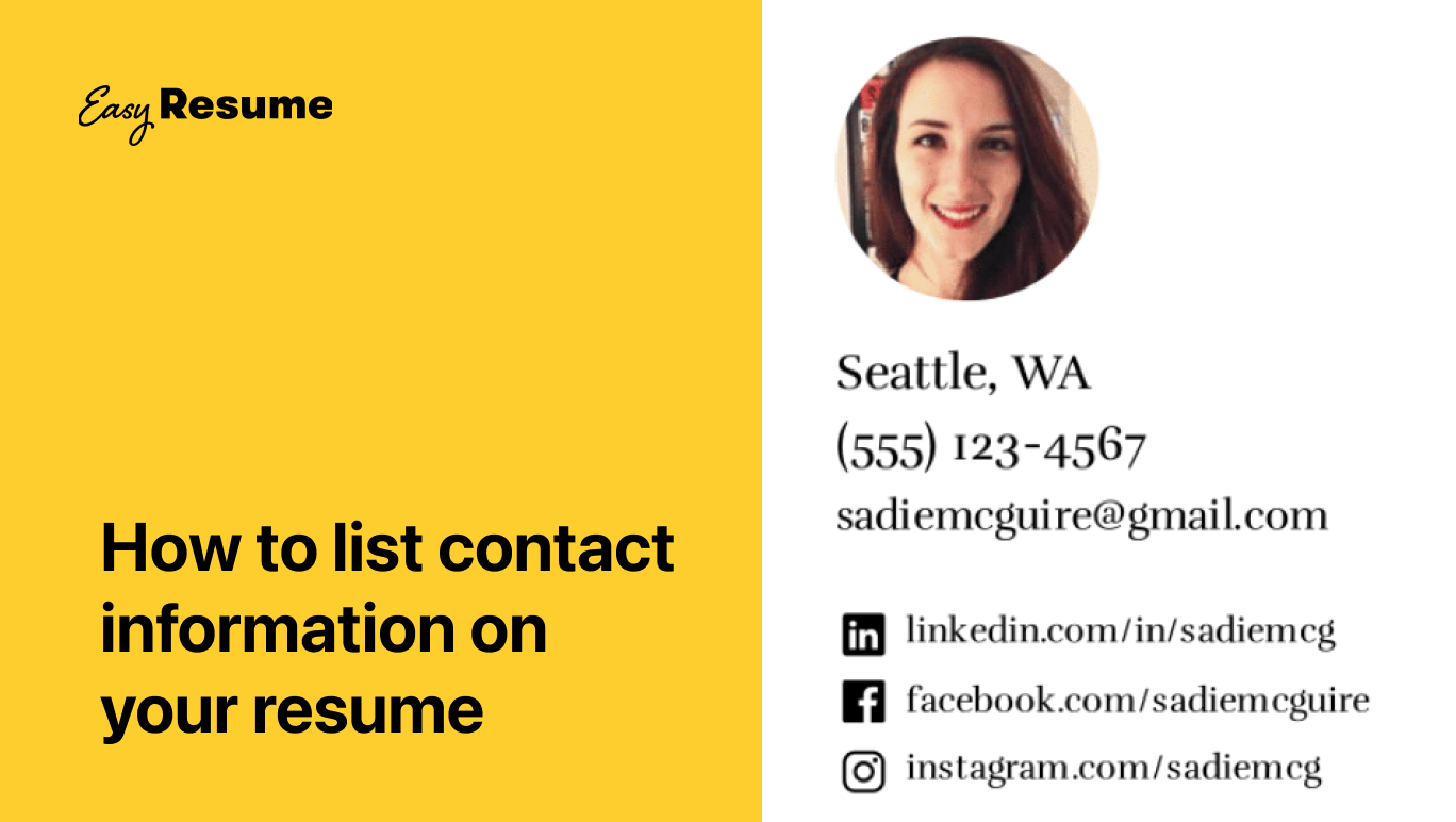 How to List Contact Information on Your Resume